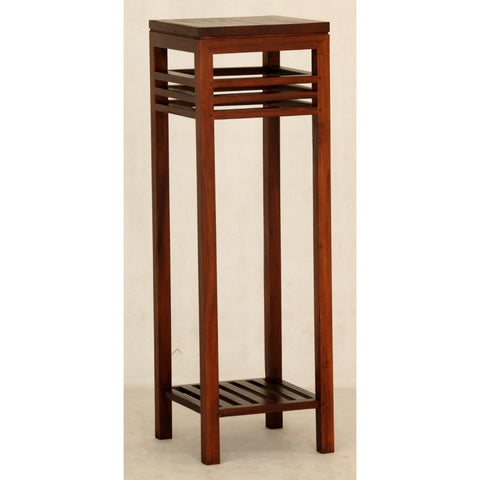 01 Member Special - Holland Tall Plant Stand Telephone Table Lamp TEK168PS-000-HSR-FL ( original price S$149 ) ( Mahogany Colour )