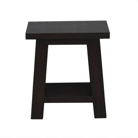 Japanese Side Table Stool TEK168 LT 000 JS Lamp Coffee Table ( Chocolate Colour )