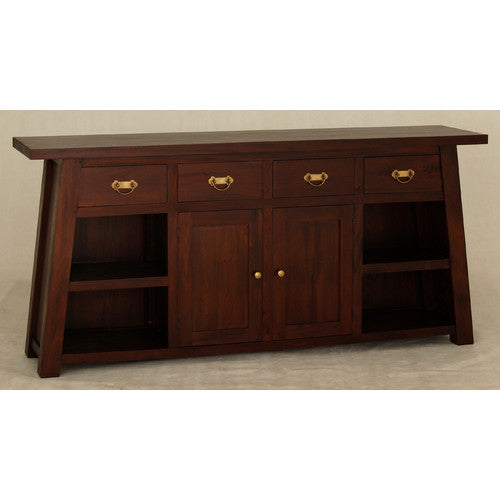 MP - Japanese Buffet Sideboard 4 Drawers 2 Door 4 Shelves TEK168 SB 204 JS ( Chocolate Colour )