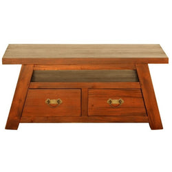 Japanese Coffee Table with 4 Drawers TEK168 CT 004 JS ( Light Pecan Colour )