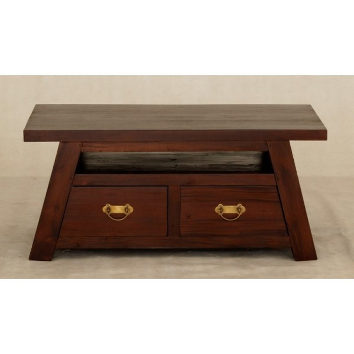 MP - Japanese Coffee Table with 4 Drawers TEK168 CT 004 JS ( Light Pecan Colour )