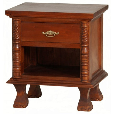 1 Member Special - Jepara French Side Table 1 Drawer 1 Open Shelf Mahogany Color TEK168BS 001 CVPL
