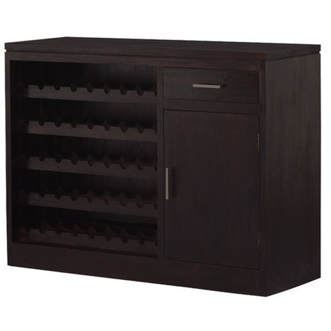 LARKSPUR Teak 1+Door+1+Drawer+Wine+Rack Bar Cabinet TEK168