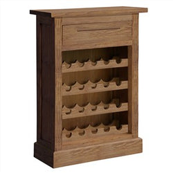 Venice Solid Mahogany Timber Wine Rack, Small, Teak
