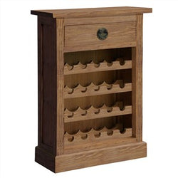 Vienna Solid Wood Timber Wine Rack, Small, Teak