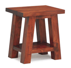 Japanese Side Table Stool TEK168LT 000 JS Lamp Coffee Table ( Picture Illustration Colour for Reference Only ) ( Light Pecan Colour )