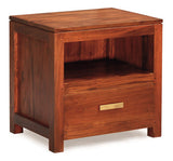 Milan 1 Drawer Lamp Table Side Table Night Stand 1 Drawer ( 55W 40D 54H ) TEK168 LT 001 PNM ( Mahogany Colour )