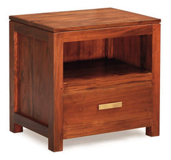 Milan 1 Drawer Lamp Table Side Table Night Stand 1 Drawer ( 55W 40D 54H ) TEK168 LT 001 PNM ( Light Pecan Colour )