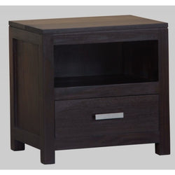 Milan 1 Drawer Lamp Table Side Table Night Stand 1 Drawer ( 55W 40D 54H ) TEK168 LT 001 PNM ( Chocolate Colour )