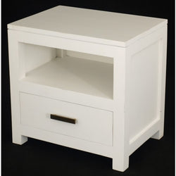 Milan 1 Drawer Lamp Table Side Table Night Stand 1 Drawer ( 55W 40D 54H ) TEK168 LT 001 PNM ( White Colour )
