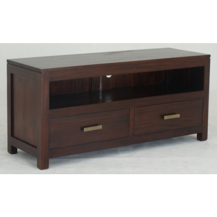 MP - Milan Small TV Console Stand  2 drawers TEK168SB 002 PNMK  ( Picture for Reference Only ) ( Chocolate Colour )