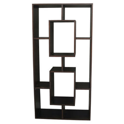Minimalist Teak Bookcase Display Cube-Five-Combination-Shelf-TEK168CU-005-RPN