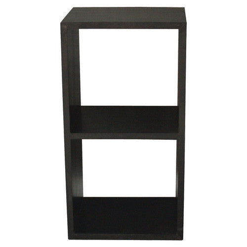 Minimalist Teak Bookcase Display Cube-Two-Shelf-TEK168CU-002-RPN