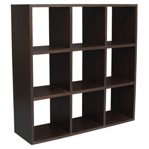 Minimalist Teak Cube-Bookcase Display Nine-Shelf-TEK168CU-009-RPN