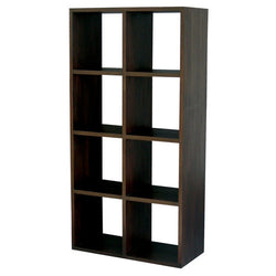 Minimalist Teak Cube Bookcase Display Eight Shelf TEK168CU-008-RPN