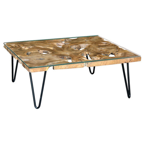 Nevada-Square+Recycle+Timber+Coffee+Table+with+Tempered+Glass