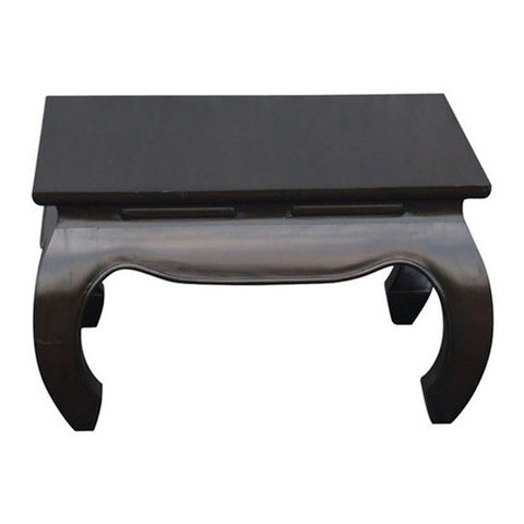 Chinese Oriental Coffee Table Square Design Curve Legs 70 cm x 70