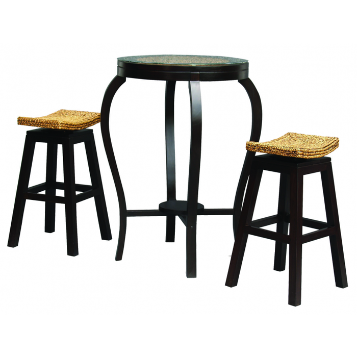MP - Ornament Tall Bar Table ONLY ( No Bar Stool ) TEK168BR-102-WV ( Chocolate Colour )