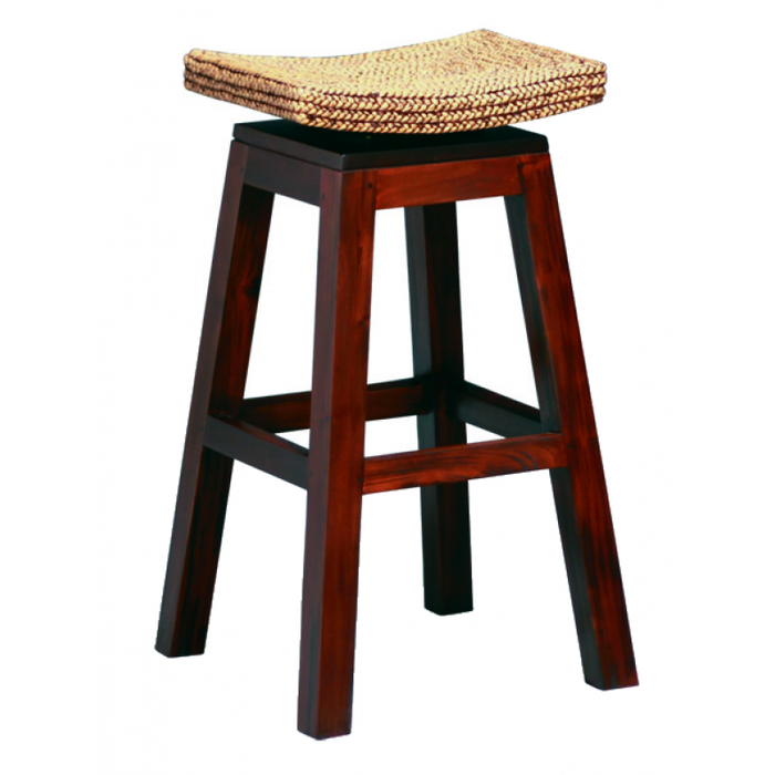 MP - Ornament Tall Bar Table and 2 Bar Stool TEK168 BR 102 WV SET ( Mahogany Colour  )