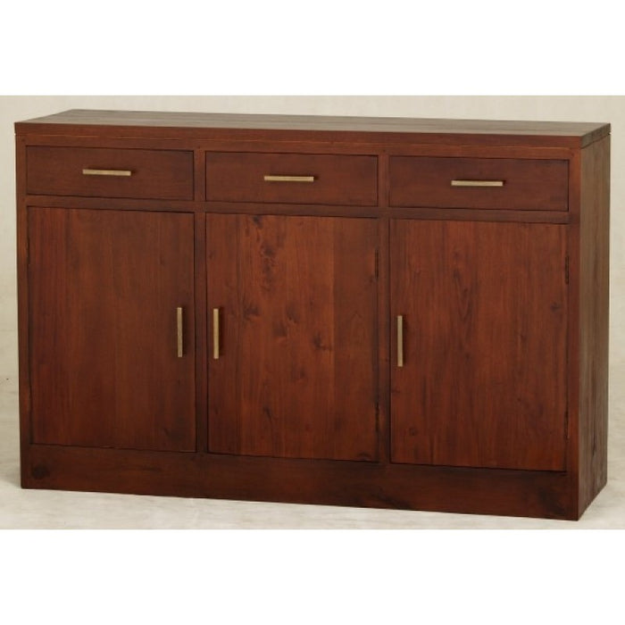 Milan Buffet 3 Door 3 Drawers Cabinet Sideboard  TEK168 SB 303 PNMK ( Mahogany Colour )