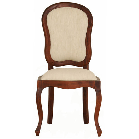 MP - Queen AnnMary Solid Timber Dining Chair 6 Piece Package Set ( 6 Non Armchair ) - TEK168 CH 54 56 QA DC ( Picture for Reference Only ) ( Mahogany Colour )