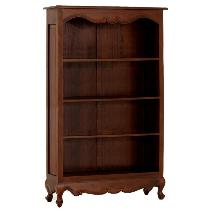 Queen Anna Solid Teak Wood Timber Bookcase, Bookshelves TEK168 BC 000 QA 180 WH ( White  Colour )