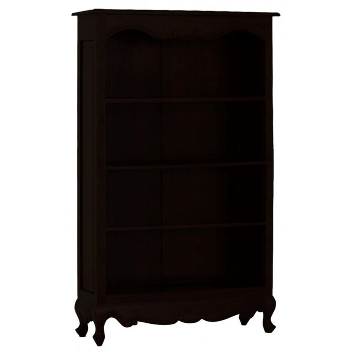 MP - Queen Anna Solid Teak Wood Timber Bookcase, Bookshelves TEK168 BC 000 QA 180 C ( Chocolate Colour )