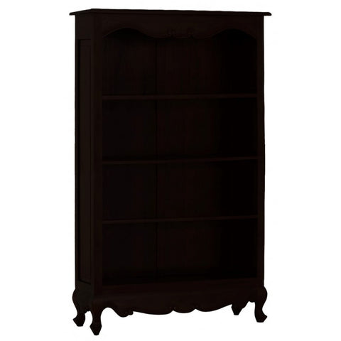 1 Member Special - Queen Anna Solid Teak Wood Timber Bookcase, Bookshelves TEK168BC-000-QA-180-C ( Chocolate Colour )
