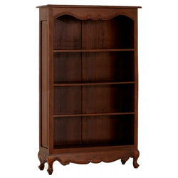 Queen Anna Solid Teak Wood Timber Bookcase, Bookshelves TEK168BC-000-QA-180 (  Mahogany Colour )