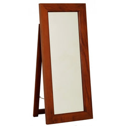 01 Member Special - Rectangular Mirror with Stand 65x150 Size: 65W 4D 150H TEK168 MR 65 150  SM  ( Mahogany Colour )