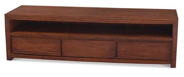MP - Biddinghuizen Amsterdam TV Console 3 Drawer (170 cm ) Full Solid TEK168 SB 003 TA ( Light Pecan )