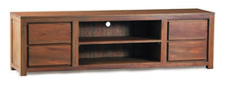 Dokkum Amsterdam TV Console 4 Drawers 200 cm 2 Bottom Shelves Full Solid TEK168SB 004 TA EC ( Mahogany Color )