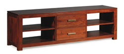 Milan TV Console 2 Drawers Entertainment Unit TEK168 SB 042 PNM ( Mahogany Colour )