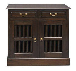 Ruji Buffet Sideboard 2 Slatted Door 2 Drawers Solid Wood TEK168SB 202 DW