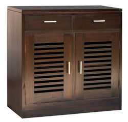 Holland Buffet Sideboard 2 Door 2 Drawer Cabinet TEK168 SB 202 HSR FL ( Chocolate Colour )
