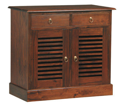 MP - Hawaii Buffet Sideboard 2 Slatted Door 2 Drawers TEK168 SB 202 HSR ( Chocolate Colour )