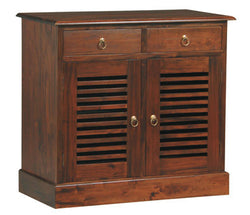 01 Member Special - Hawaii Buffet Sideboard 2 Slatted Door 2 Drawers TEK168 SB 202 HSR ( Mahogany Colour )