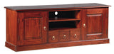 01 Member Special - Tasmania TV Console 2 Door 3 Drawers Solid Wood TEK168 SB 203 PN ( Mahogany Colour ) Exact Showroom Piece