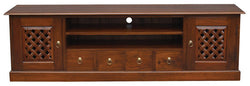 New York TV Console Sideboard with Carvings 2 Door 4 Drawers 2 Open Shelves TEK168SB 204 CV