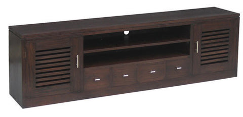 Holland TV Console 2 Slatted Door 4 Drawers Chocolate Colour TEK168SB 204 HSR FL