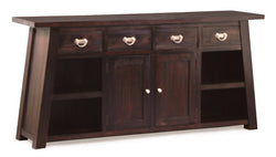 Japanese Buffet Sideboard 4 Drawers 2 Door 4 Shelves TEK168SB 204 JS ( Chocolate Colour )