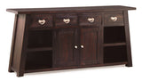 Japanese Buffet Sideboard 4 Drawers 2 Door 4 Shelves TEK168SB 204 JS ( Mahogany Colour )