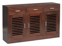 MP - Holland Buffet Sideboard 3 Door 3 Drawers 2 Shelves Inside 3 Door System  TEK168 SB 303 HSR FL ( Mahogany Colour )