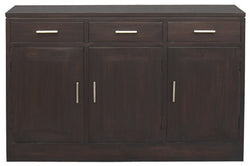 01 Member Special - Milan Buffet 3 Door 3 Drawers Cabinet Sideboard  TEK168SB 303 PNMK ( CTF Aussie Chocolate Black Colour )