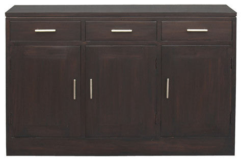 Milan Buffet 3 Door 3 Drawers Cabinet Sideboard  TEK168SB 303 PNMK ( Chocolate Colour )