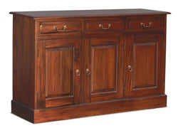 Tasmania Buffet Sideboard 3 Door 3 Drawers Solid Wood TEK168SB 303 PN ( Colour Picture Illustration for Reference Only ) ( 2 Tone Colour Wood Colour Top and White Colour Body )