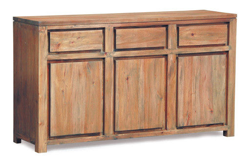Franeker Amsterdam Buffet Sideboard 3 Drawers 3 Door Cabinet Full Solid  SB 303 TA TEK168 SB 303 TA EC SPO070 ( Picture for Reference Only ) ( Mahogany Color  )