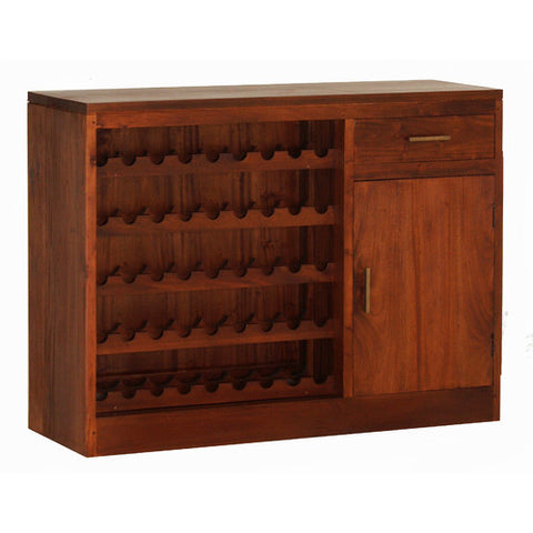 SOLANA BEACH Teak 1 Drawer Wine Rack Bar Cabinet TEK168SB-101-WR-LP