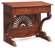 Executive Table Writing Desk 2 Drawers TEK168 ST 002 SD (M)  ( Mahogany Colour )