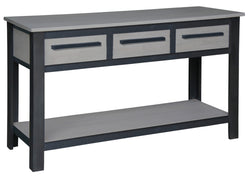 Davis Industrial Design Console Table 3 Drawers with Bottom Shelves Hall Table TEK168ST 003 DVS